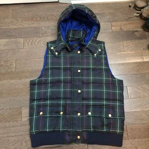 NWOT J. Crew vest with optional hood! BRAND NEW!